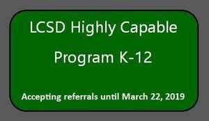 LCSD Highly Capable Program K-12