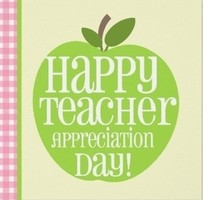 TEACHER APPRECIATION DAY, MAY 5th, 2020