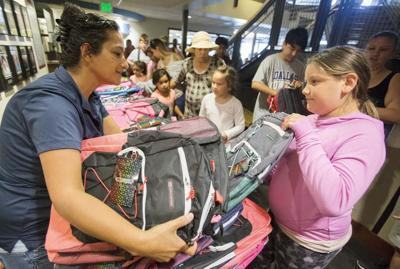 Free backpacks are available at the Back to School fair.