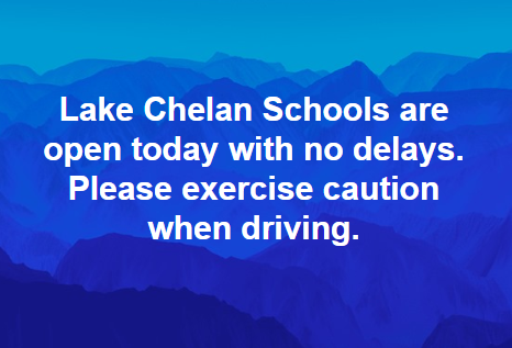 LCSD schools are open today, no delays.